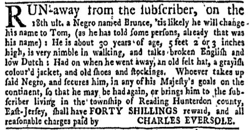 Jun 27 - New-York Gazette Weekly Mercury Supplement Slavery 1