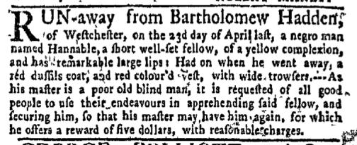 Jun 27 - New-York Gazette Weekly Mercury Supplement Slavery 2