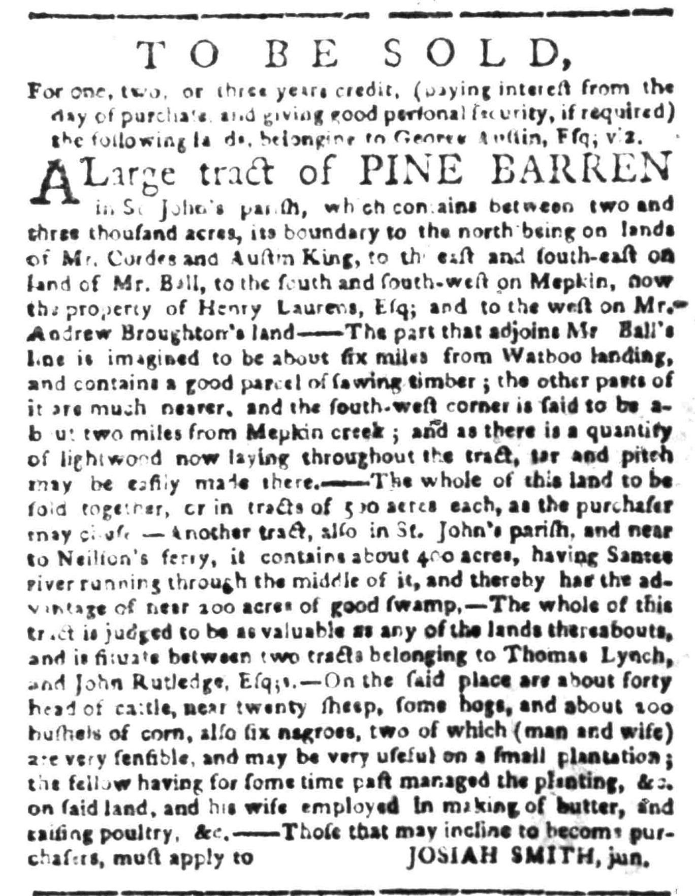 Jun 27 - South Carolina Gazette Slavery 7