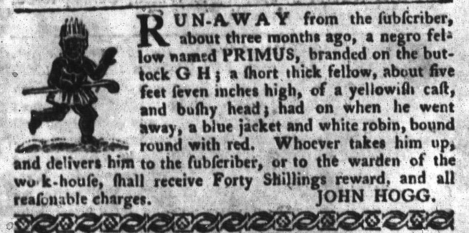 Jun 28 - South-Carolina Gazette and Country Journal Slavery 14