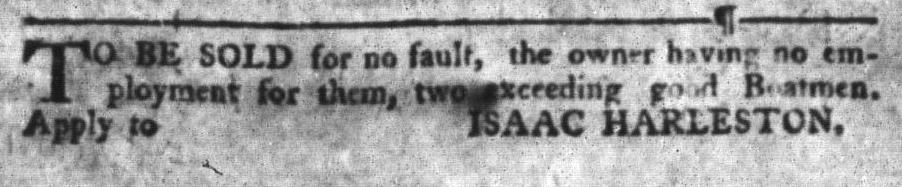 Jun 28 - South-Carolina Gazette and Country Journal Slavery 3