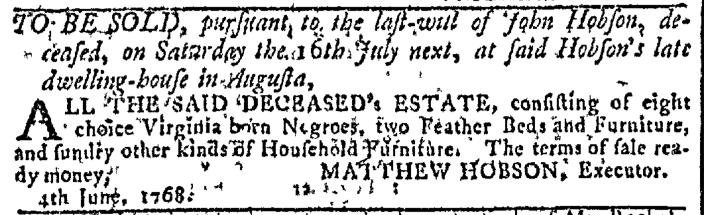 Jun 29 - Georgia Gazette Slavery 2