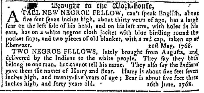 Jun 29 - Georgia Gazette Slavery 4