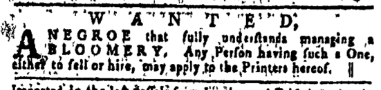 Jun 30 - Pennsylvania Gazette Slavery 1