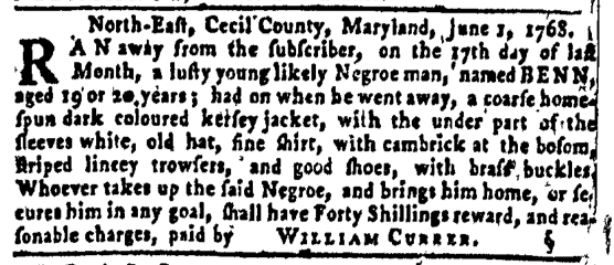 Jun 30 - Pennsylvania Gazette Slavery 4