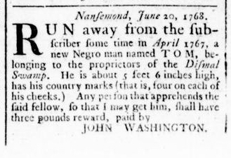 Jun 30 - Virginia Gazette Rind Slavery 4