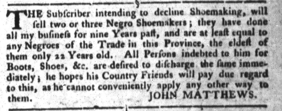 Jun 7 - South-Carolina Gazette and Country Journal Supplement Slavery 2