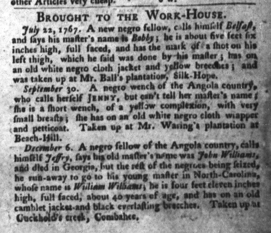 Jun 7 - South-Carolina Gazette and Country Journal Supplement Slavery 3