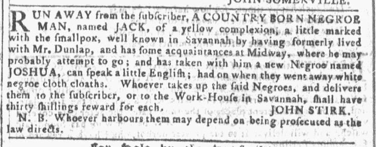 Jun 8 - Georgia Gazette Slavery 6