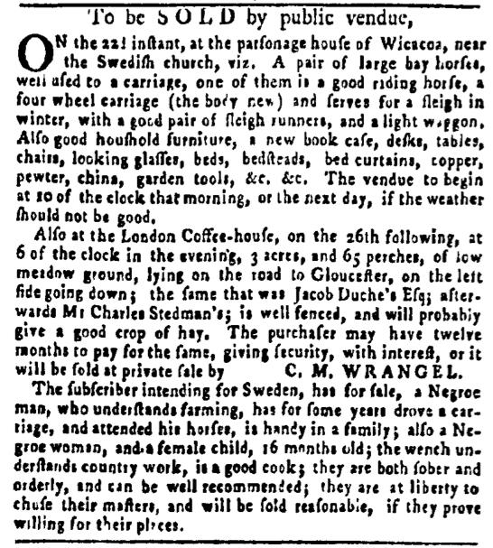 Jun 9 - Pennsylvania Gazette Slavery 1
