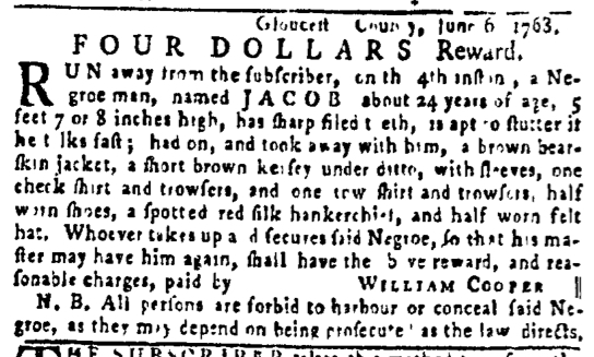 Jun 9 - Pennsylvania Gazette Slavery 2