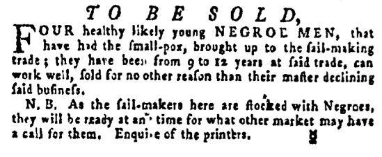 Jun 9 - Pennsylvania Gazette Supplement Slavery 1