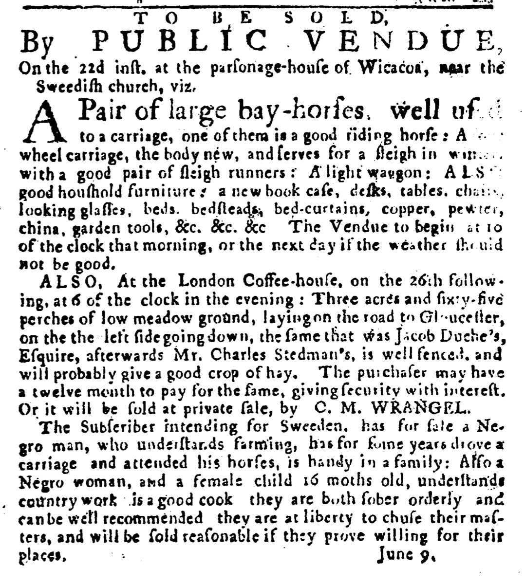 Jun 9 - Pennsylvania Journal Slavery 1