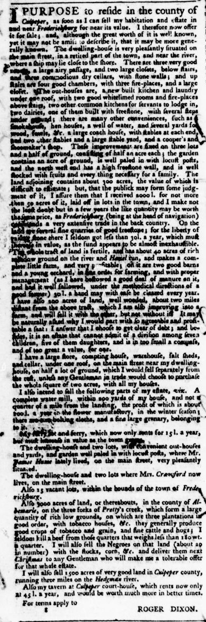 Jun 9 - Virginia Gazette Purdie and Dixon Slavery 4