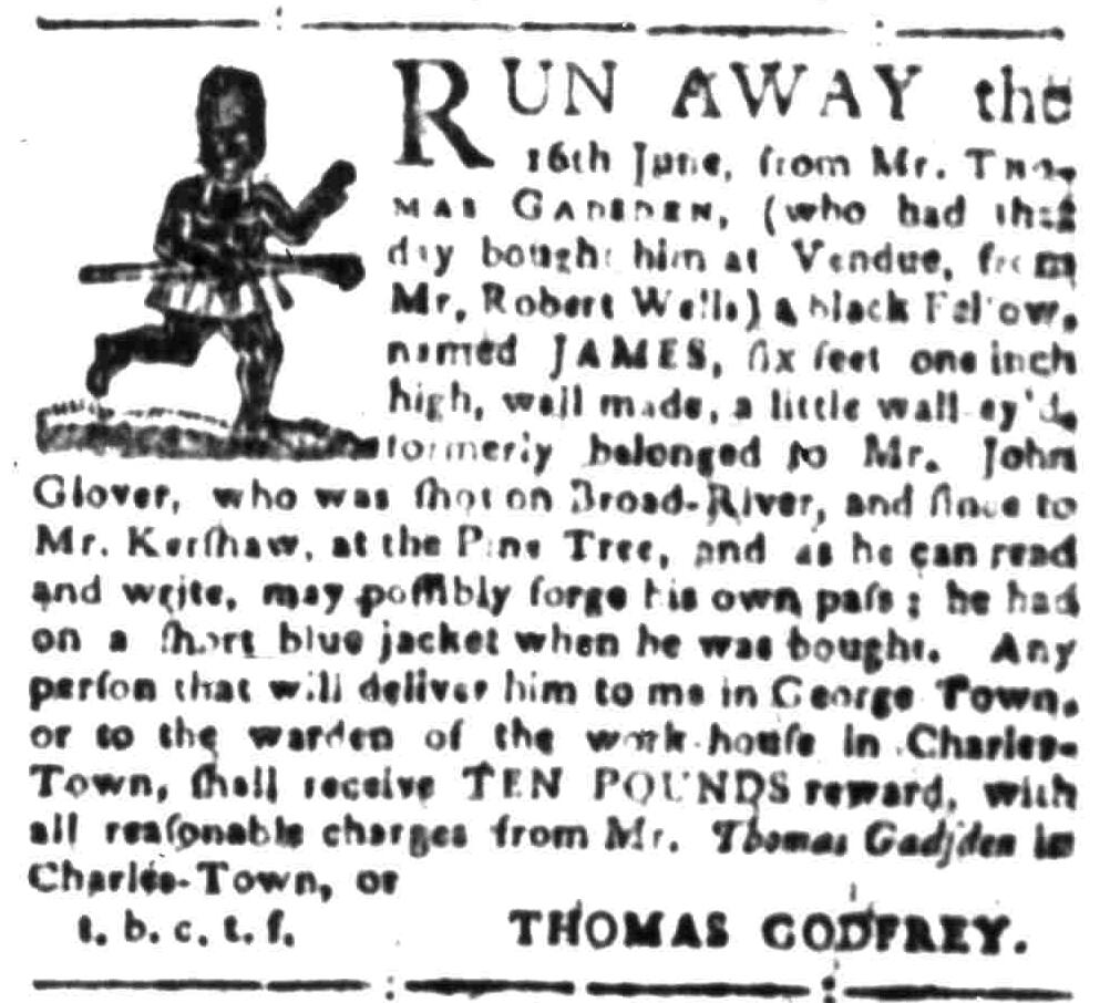 Aug 1 - South-Carolina Gazette Slavery 5