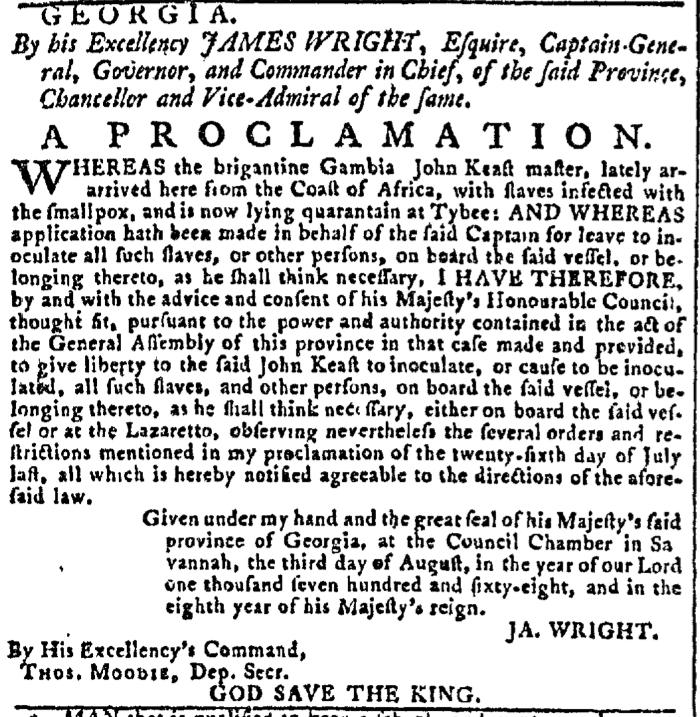 Aug 10 - Georgia Gazette Slavery 1