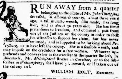 Aug 11 - Virginia Gazette Purdie and Dixon Slavery 7