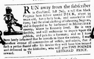 Aug 11 - Virginia Gazette Purdie and Dixon Slavery 9