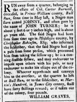 Aug 11 - Virginia Gazette Rind Slavery 5