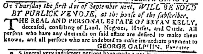 Aug 3 - Georgia Gazette Slavery 10