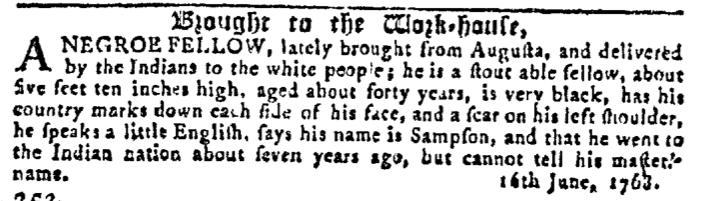 Aug 3 - Georgia Gazette Slavery 13
