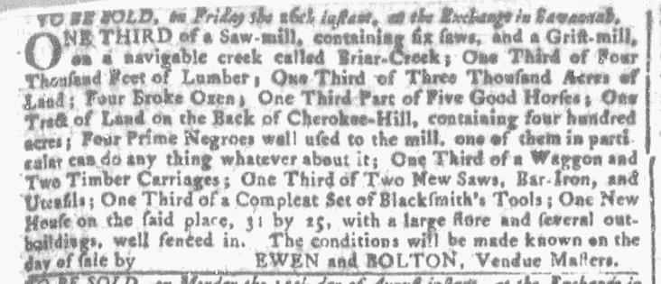 Aug 3 - Georgia Gazette Slavery 2