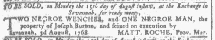 Aug 3 - Georgia Gazette Slavery 3