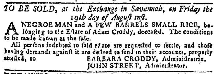 Aug 3 - Georgia Gazette Slavery 8