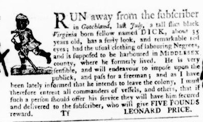 Aug 4 - Virginia Gazette Purdie and Dixon Slavery 7