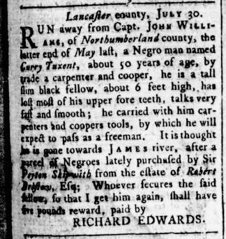 Aug 4 - Virginia Gazette Rind Slavery 1