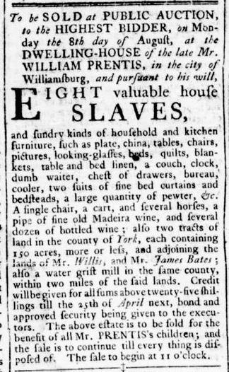 Aug 4 - Virginia Gazette Rind Slavery 5