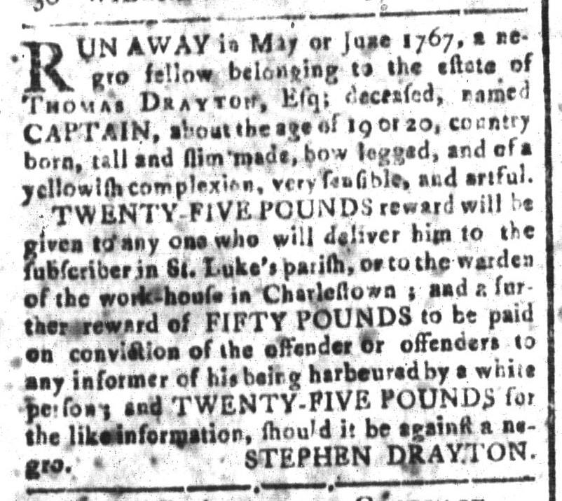 Aug 5 - South-Carolina and American General Gazette Slavery 11