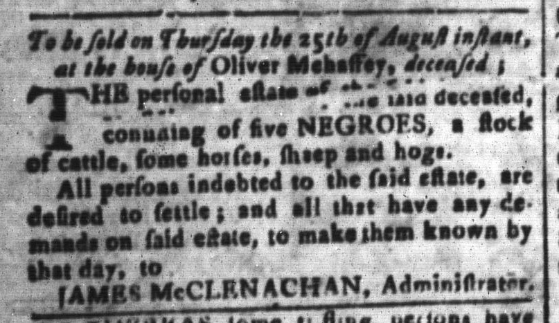 Aug 5 - South-Carolina and American General Gazette Slavery 3