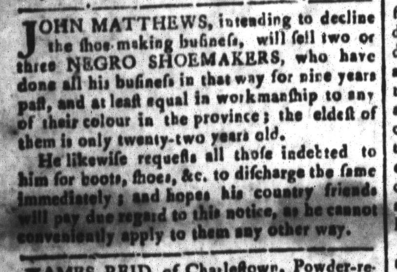 Aug 5 - South-Carolina and American General Gazette Slavery 4