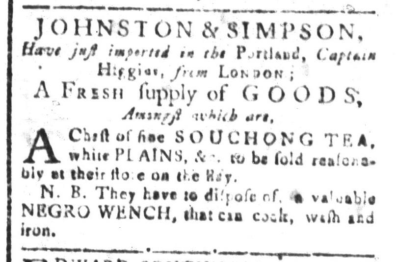 Aug 5 - South-Carolina and American General Gazette Slavery 8
