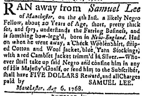 Aug 8 - Massachusetts Gazette Green and Russell Slavery 1