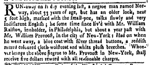 Aug 8 - New-York Gazette Weekly Mercury Slavery 3