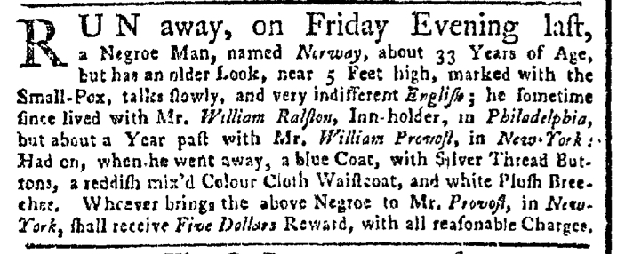 Aug 8 - New-York Gazette Weekly Post-Boy Slavery 1