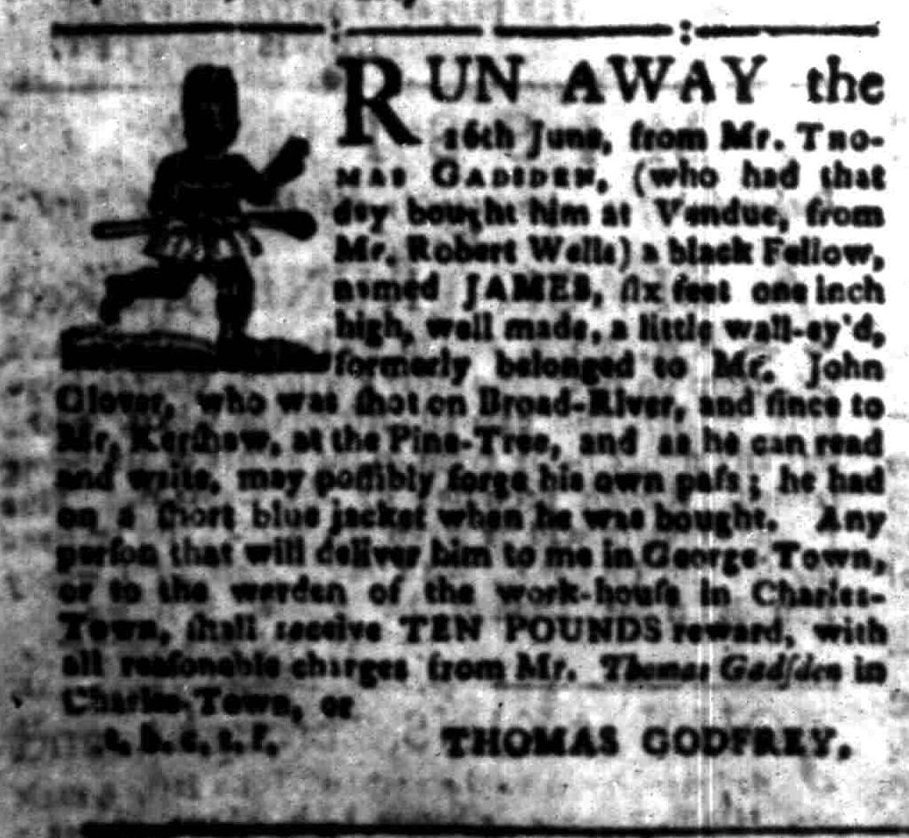 Aug 8 - South-Carolina Gazette Slavery 10