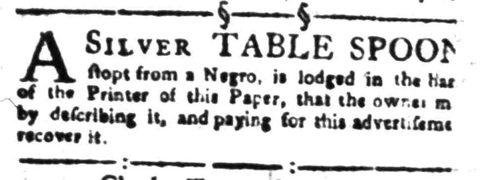 Aug 8 - South-Carolina Gazette Slavery 12