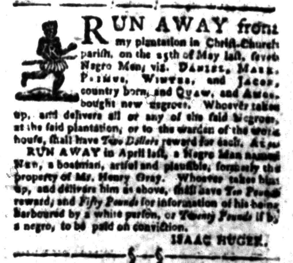 Aug 8 - South-Carolina Gazette Slavery 4