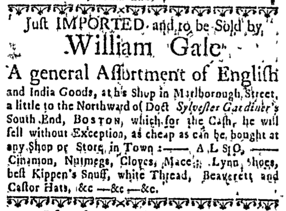 Jul 17 - 7:14:1768 Massachusetts Gazette Draper