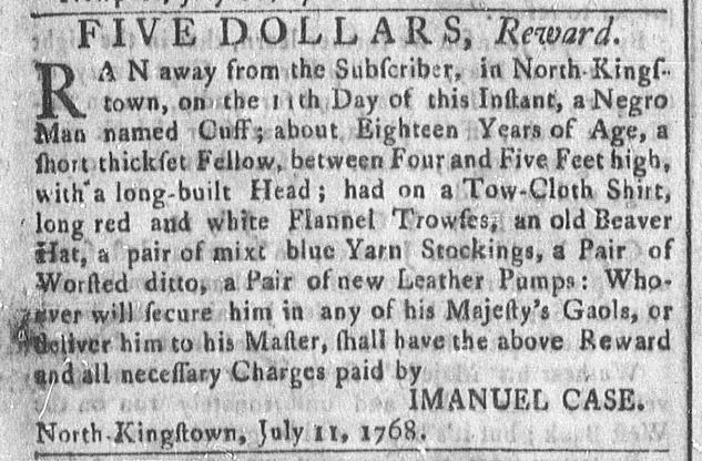 Jul 18 - Newport Mercury Slavery 1