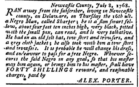 Jul 18 - Pennsylvania Chronicle Slavery 1