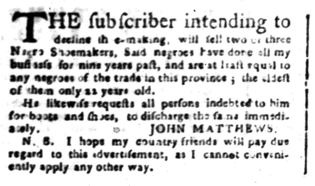 Jul 18 - South-Carolina Gazette Postscript Slavery 1