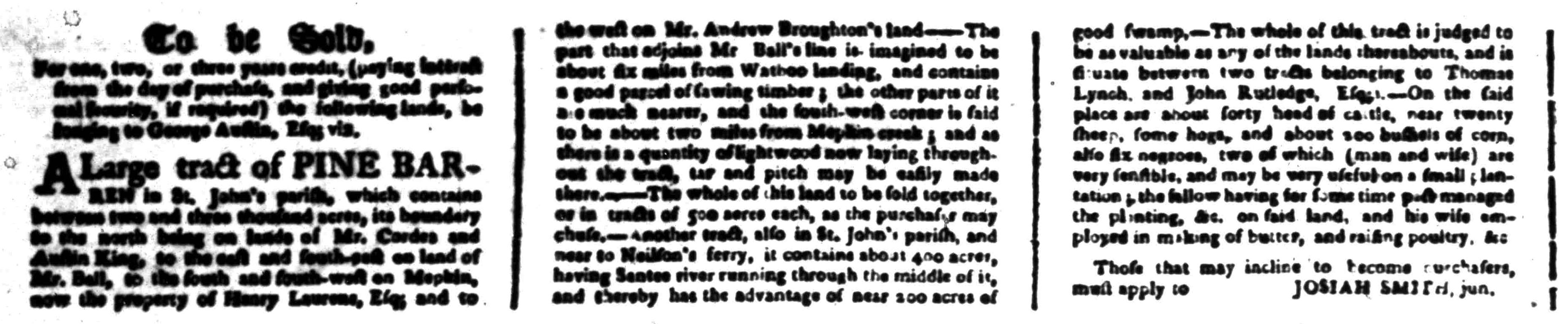 Jul 18 - South-Carolina Gazette Postscript Slavery 2