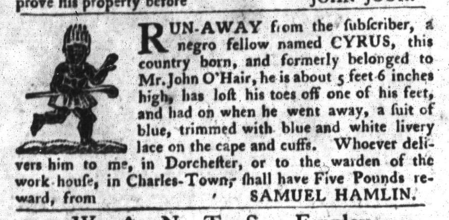 Jul 19 - South-Carolina Gazette and Country Journal Slavery 10