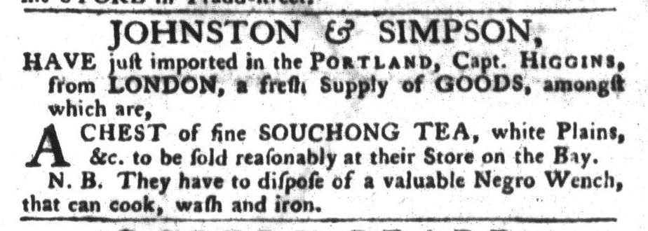 Jul 19 - South-Carolina Gazette and Country Journal Slavery 4