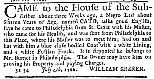 Jul 21 - New-York Journal Supplement Slavery 1
