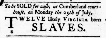 Jul 21 - Virginia Gazette Purdie and Dixon Slavery 2